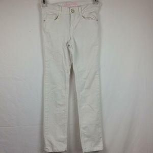 Girls Gymboree size 7 skinny white corduroy pants